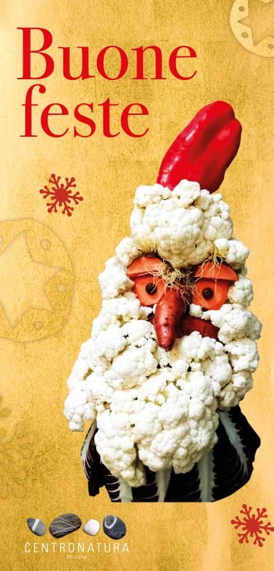 Babbo Natale Veg auguri di buone feste centro natura